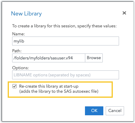 Working with SAS libraries 5