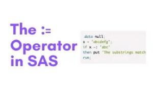 comparison operator in sas
