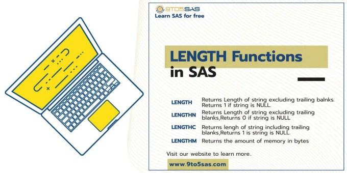 SAS Length Functions : LENGTH / LENGTHN / LENGTHC / LENGTHM.