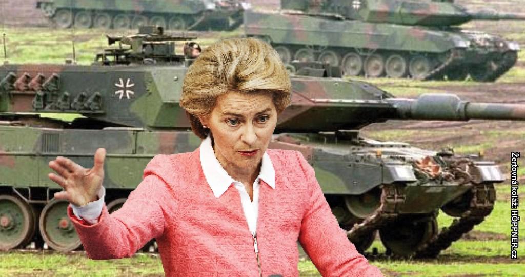 Do čela Evropské unie míří Železná Ursula, velitelka německého Bundeswehru. Dvourychlostní Evropa tři dva jedna teď! Soumrak NATO v Nové Evropě