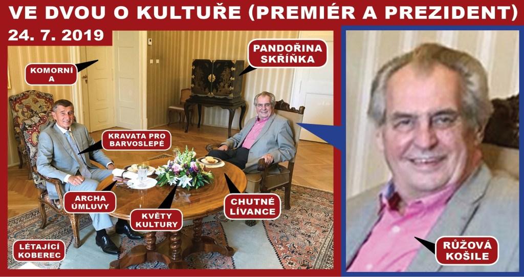 Žertovně z kultury: Prezident Zeman jen kvete! Zvládl by klidně ještě tři volební období! Je za tím lektvar vědmy Vangy? Takže… Kdo mu dělá ochutnávače?