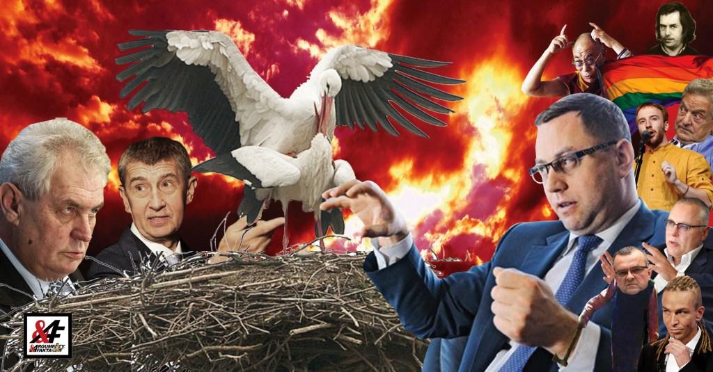 """Skřeky z trosek Čapího hnízda: Bakalova sekta vzývá nejvyššího mudrce. Prezident Zeman vytáhl z klobouku brzdovou destičku. """"On se zesměšnil!"""" volají, ale samozřejmě se pletou. Je nejvyšší mudrc jedním z nich?"""