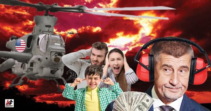 No nekup to! Předražené, nekvalitní a hlučné vrtulníky z USA? Babiš: Ano, samozřejmě! Že nemají kolečka a je v nich zima? Tím líp! A bez výběrového řízení! Patolízalství za 10 miliard. Přitom je nechce ani americká armáda. Trump si namazal Babiše na chleba. Kdo si namastil kapsu?