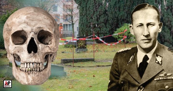Hrůza! Kdo otevřel hrob Reinharda Heydricha a kam zmizela jeho lebka? Nacistický rituál na Hřbitově vysloužilců? Německá policie uklidňuje situaci. O tajném místě věděla jen hrstka zasvěcených…