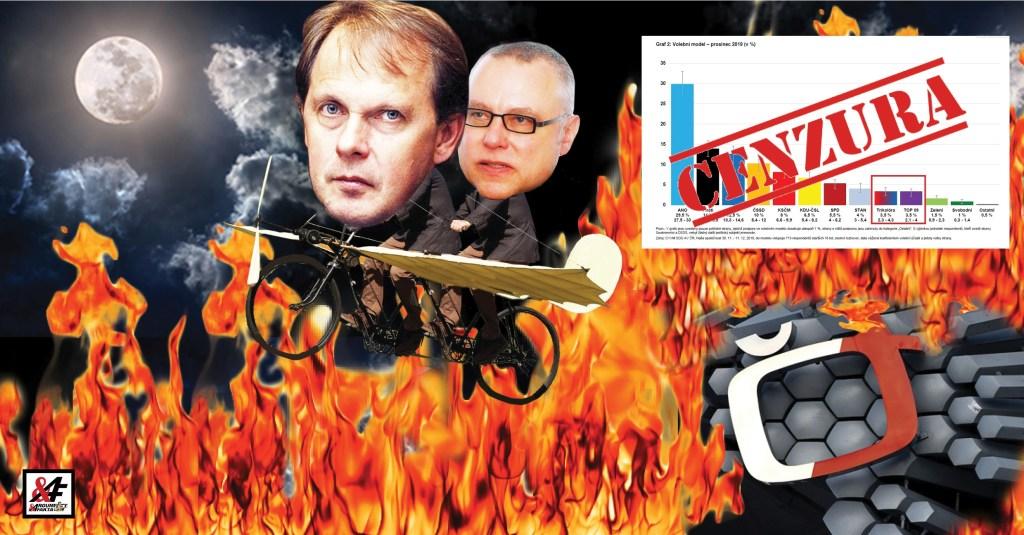Jak Česká televize cenzuruje průzkumy veřejného mínění: Trikolóra před TOP 09, ale do grafu se nevešla. Vyfutrováno Kalouskem. Jak je to možné? Výmluva, která neobstojí