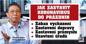 Muž, který zastavil v Číně koronavirus, radí Česku: Zákaz vycházení, nákupy jen po minutách, žádná doprava. Pak máte šanci to do prázdnin zastavit. Jinak…