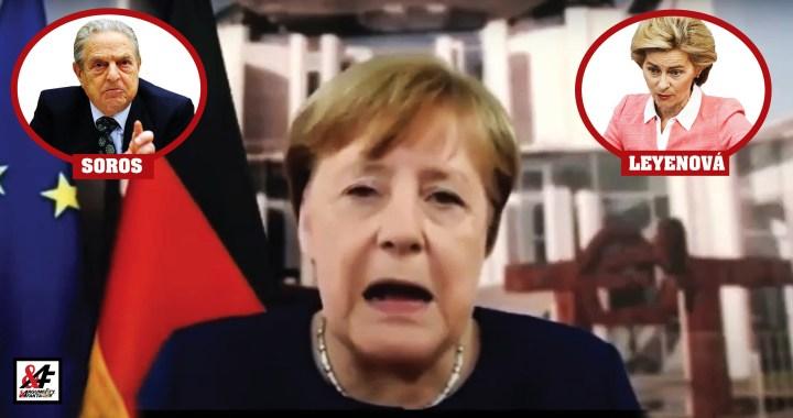 """Z toho mrazí! Merkelová: """"Musíme žít s pandemií, dokud nebude vakcína."""" VIDEO. Gates: """"Odhaduji to ještě tak dva roky."""" Evropská unie: """"Jsme na mizině."""" Deep State: """"My vám půjčíme!"""""""