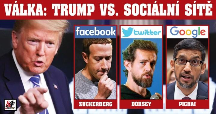 """Tvrdý střet prezidenta Trumpa a sociání sítě Twitter. """"Je to hnízdo radikální levice,"""" uvedl šéf Bílého domu. Twitter trvá na tom, že bude kontrolovat faktickou správnost Trumpových příspěvků. Ten hrozí regulací"""