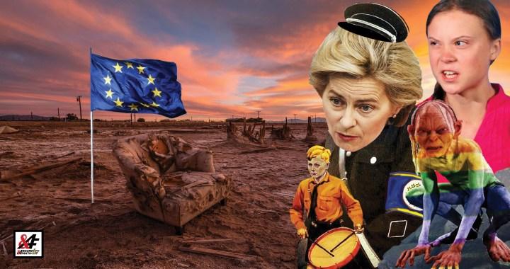 """Ďábelský plán šílené Uršuly: """"My vám vnutíme Zelený úděl a vy nám za to poděkujete."""" Plán obnovy po koronaviru je ve skutečnosti cesta do pekel, míní experti. Evropská unie pod diktátem extremistů?"""