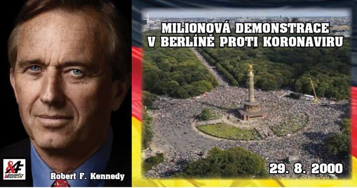 Nehorázné: Jak lžou média hlavního proudu o vzpouře proti koronaviru. Milionová demonstrace v Berlíně zlomila všechny rekordy! Revoluce? Exkluzivně: Překlad proslovu Roberta Kennedyho jr. VIDEO. Jak to vidí Čech, žijící v Německu