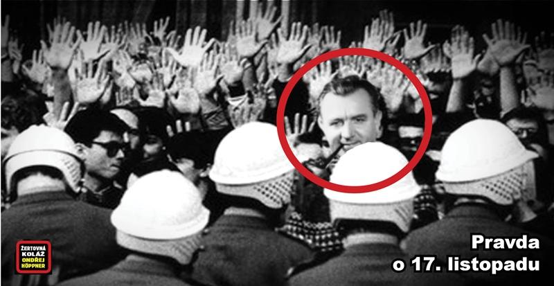 """""""17. listopad 89? Něco jako teatrální útok na Zimní palác. Nic víc,"""" říká Stanislav Novotný, disident a účastník listopadových událostí."""