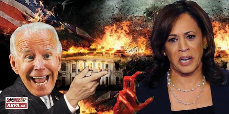 """No fujtajbl! Volební podvod na druhou: Lžiprezident Biden už mluví o černošce Kamale jako o """"zvoleném prezidentovi"""" a o jejím muži jako o její manželce a první dámě. Feministický puč už otevírá chřtán…"""