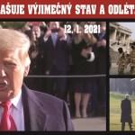 USA pod tlakem: Trump vyhlašuje ve Washingtonu výjimečný stav. VIDEO. 25 tisíc vojáků v ulicích. FBI varuje před útoky ve všech 50 hlavních městech USA. Nečekaný projev na letišti.