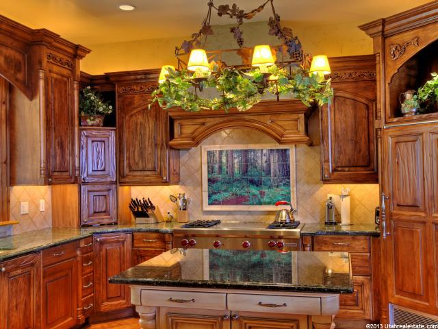 Kitchen with island and lovely countertops