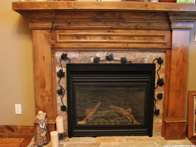 Beautiful fireplace in family room