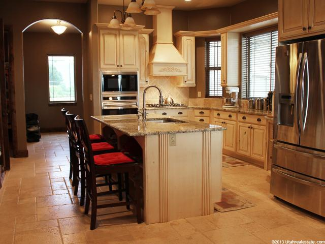 Spacious kitchen in Highland, UT home