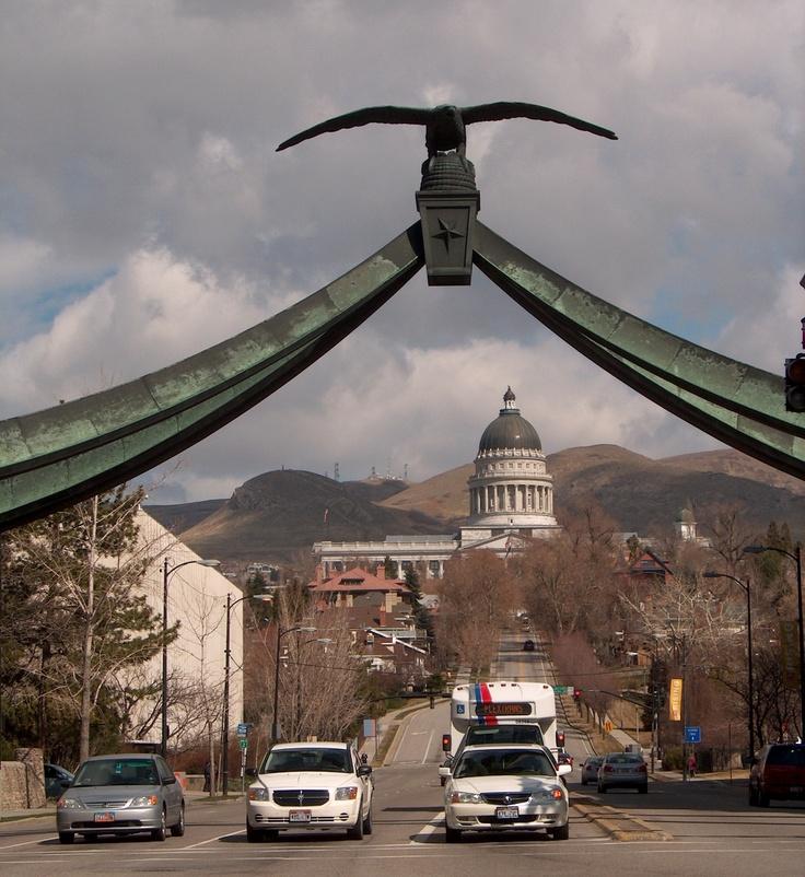 Seagull Bridge in Salt Lake City