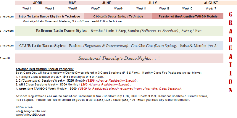 Silver Bullet Ballroom & Latin Dance Classes - SCHEDULES