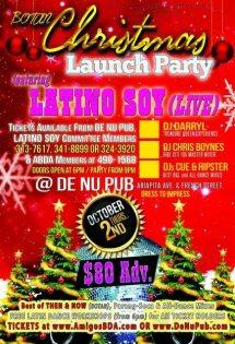 """Christmas Launch Party"" (LIVE) - Thursday 2nd October @De Nu Pub, Woodbrook"