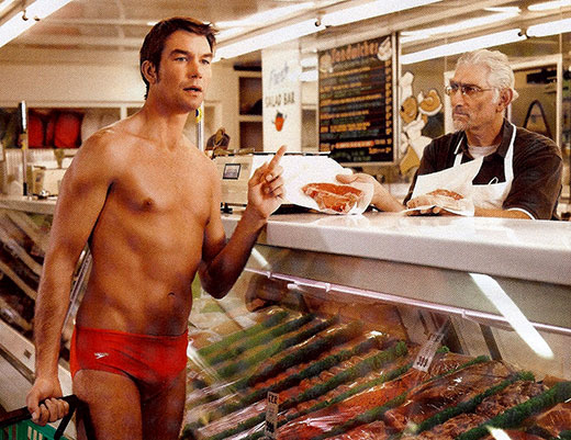Jerry O'Connell shopping in a speedo