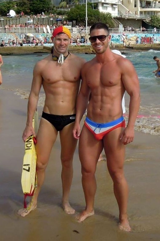 Wearing speedos lifeguards