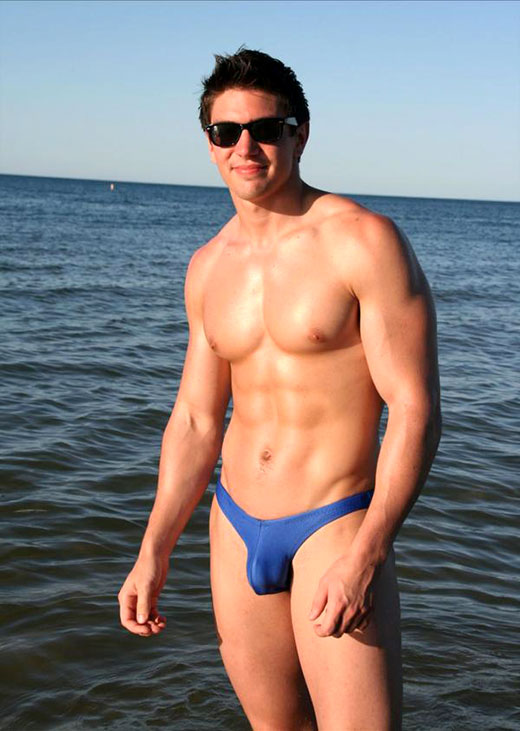 Steve Grand in Speedo