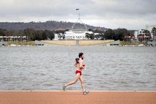 Red Speedo in Canberra