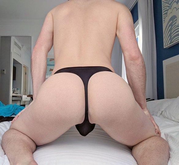 Male Black Thong