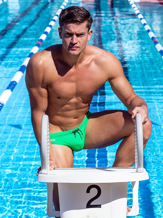 Swimmers Green Speedo