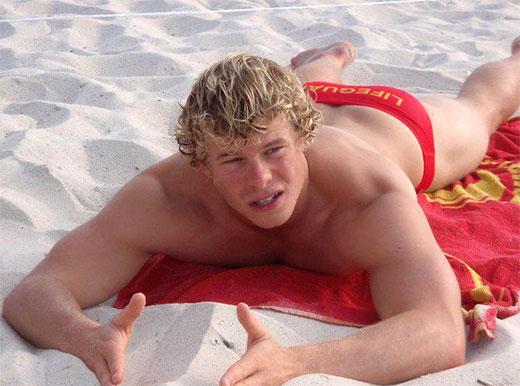 Beach Lifeguard Red Speedo