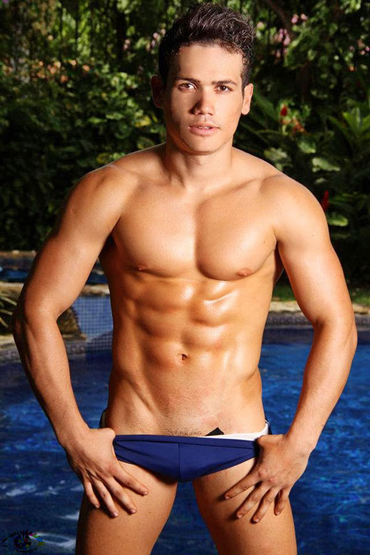 Cute Boy in a Cute Blue Speedo