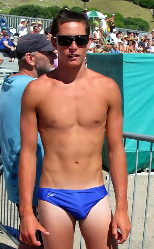 Guy in Blue Speedo