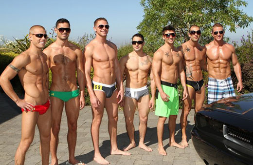 Guys in Speedos