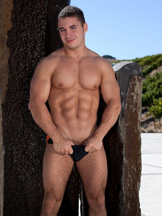 Guy in Black Speedos