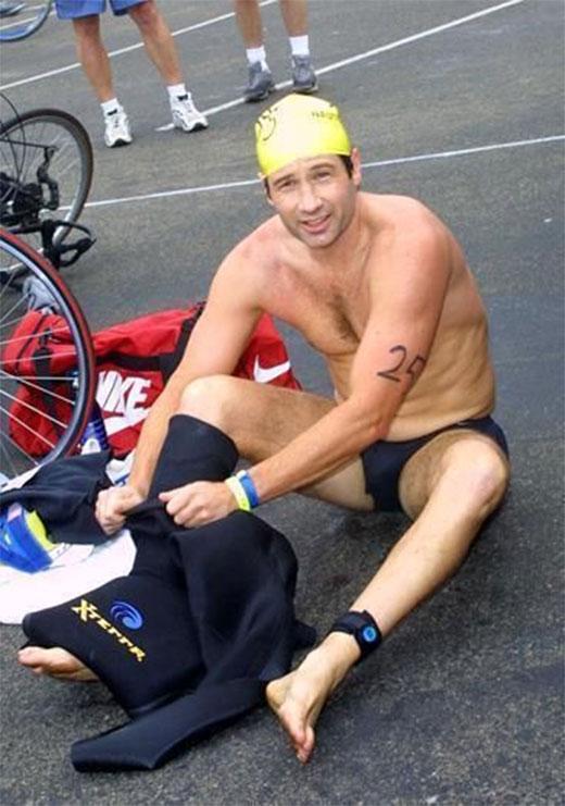 David Duchovny Triathlon Speedos