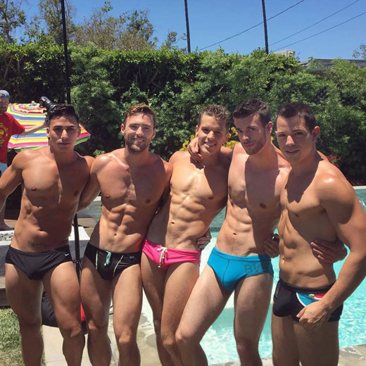 Five Speedo Guys
