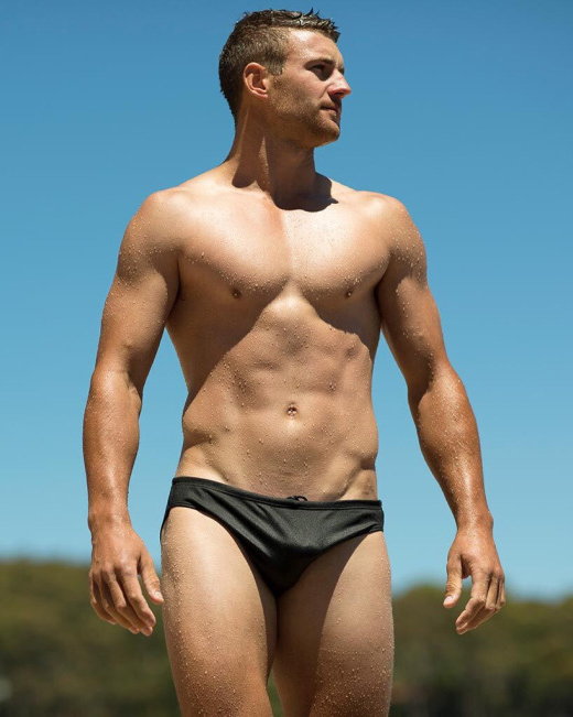 Perfection in a Black Speedo