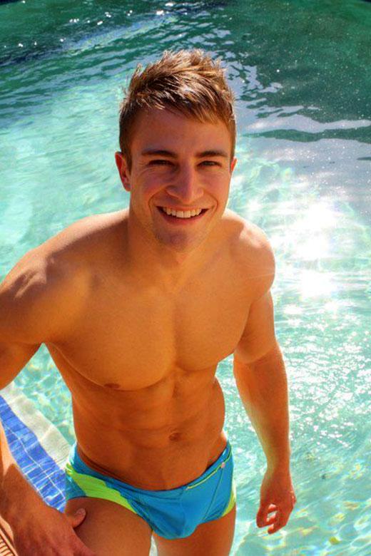 Pool Cutie in Speedos