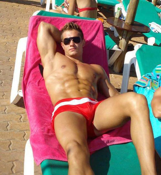 Red Speedo Guys