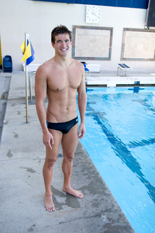 Cute Swimmer wearing Speedo