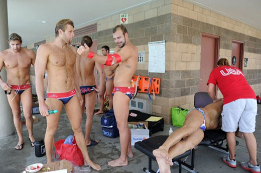 Swim Team in Speedos