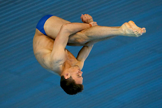 Tom Daly Blue Speedos