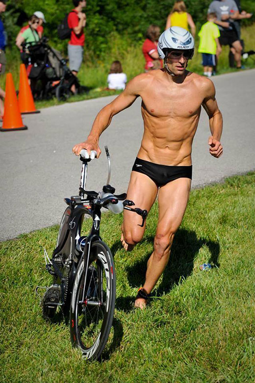 Triathlete Cycling