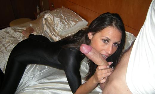 Jess West Sucking Cock in Lycra