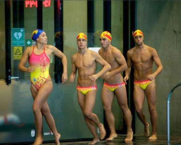 Guys and Girls in Matching Swimsuits