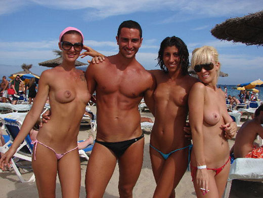 Three Topless Girls