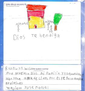 When you sponsor a child who lives in poverty in a foreign country, they send you letters that brighten your day.