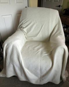 Ugly blanket chair