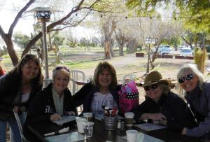 (l-r) Julie, Sondra, Kathy, Phyllis, me