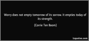 Corrie ten Boom makes my point, although she doesn't mention egrets.